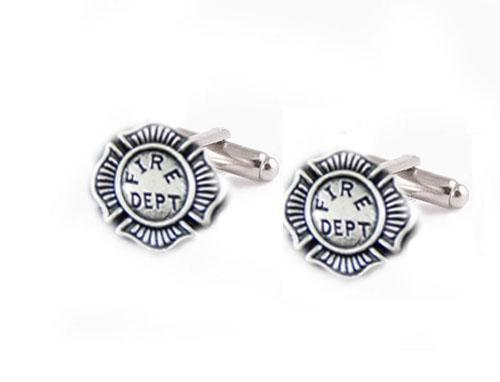 Silver Fire Department Cufflinks - Jewelrylized.com
