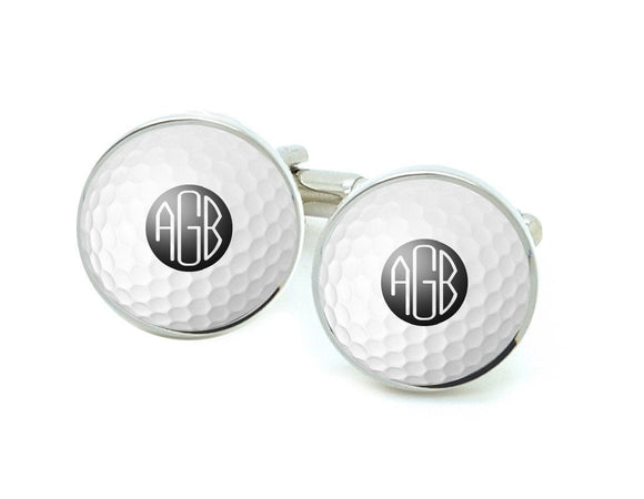 Golf Ball Monogram Photo Cufflinks - Jewelrylized.com