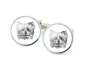Yorkie Dog Cufflinks, Dog Lover Gift - Jewelrylized