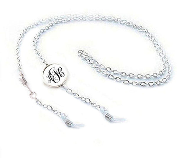 Silver Arrow Eyeglass Chain Holder, Silver Eyeglass lanyard reading glasses chain - Jewelrylized  - 1