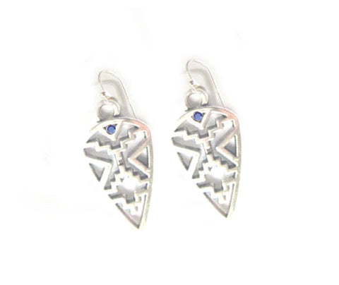 Silver Birthstone Native American Style Earrings - Jewelrylized  - 1