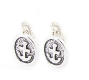 Oval Anchor Sterling silver Earrings - Jewelrylized.com
