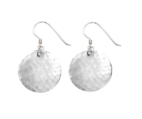Sterling Silver Hammer Texture Earrings