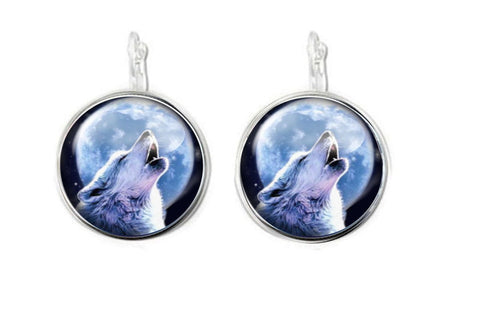 Silver Wolf Earrings, Necklace, Bracelet, Ring - Jewelrylized.com