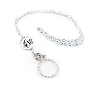 Honeycomb Bee Personalized Initials Eyeglass Chain - Jewelrylized.com