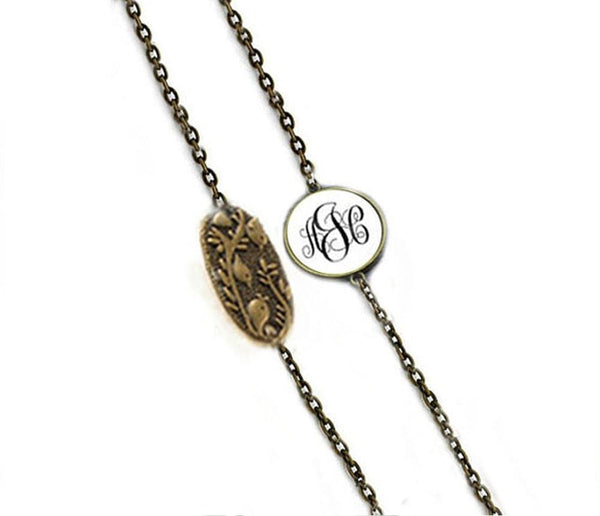 Bronze Bird Monogram Eyeglass Chain Holder - Jewelrylized.com
