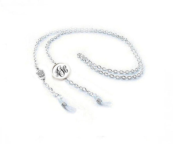 Skull Monogram Eyeglass Chain Holder, Eyeglass lanyard reading glasses chain - Jewelrylized.com