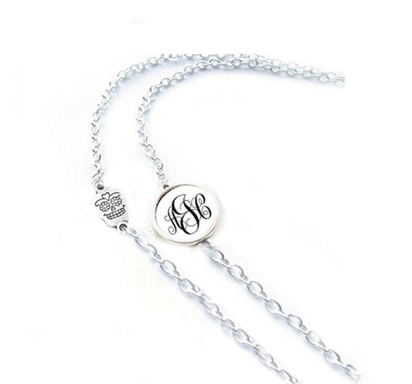 Skull Monogram Eyeglass Chain Holder, Eyeglass lanyard reading glasses chain - Jewelrylized