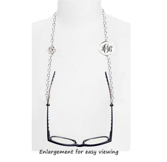 Silver Celtic Pagan Monogram Eyeglass Chain - Jewelrylized.com