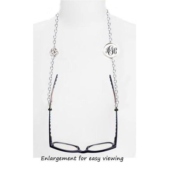 Silver Celtic Pagan Monogram Eyeglass Chain - Jewelrylized