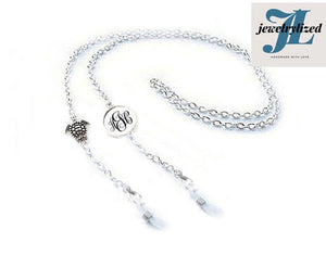 Turtle Monogram Eyeglass Chain, Reading glasses chain