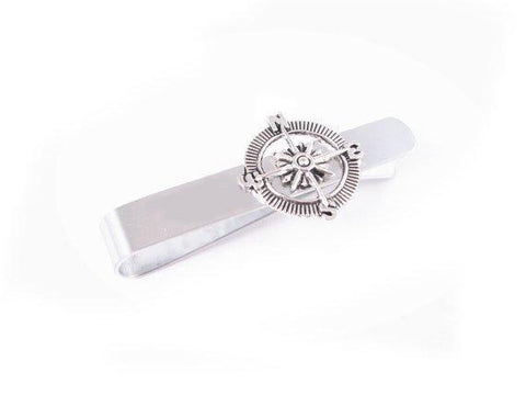 Compass Stainless Steel Tie Clip - Jewelrylized