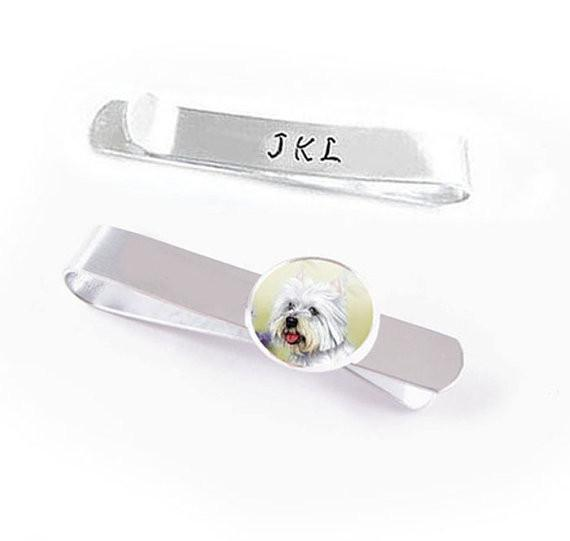 Dog Tie Bar, Pet Tie Clip, Cat Tie Clasp - Jewelrylized