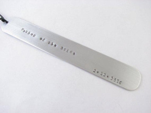 Mother of Bride Bookmark, Personalized Hand Stamped Engraved Bookmarker - Jewelrylized.com
