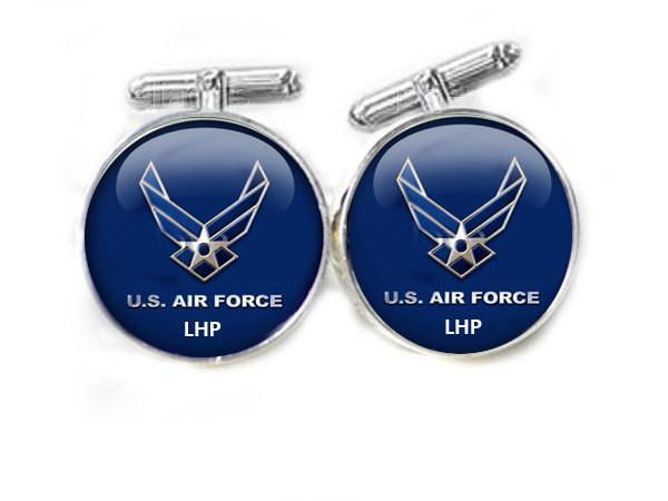 Military Air Force Cufflinks, personalized Initial Cufflinks - Jewelrylized  - 1