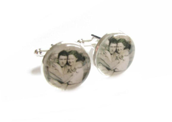 Black White Photo Personalized Cufflinks - Jewelrylized.com