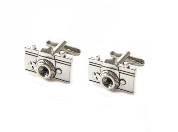 Camera Antiqued silver Cufflinks - Jewelrylized.com
