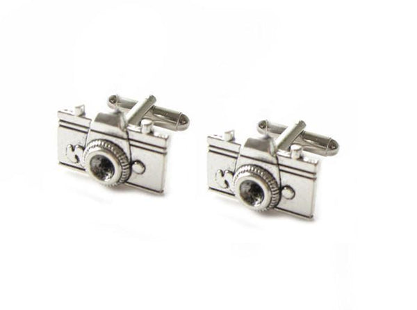 Camera  Antiqued silver Cufflinks - Jewelrylized