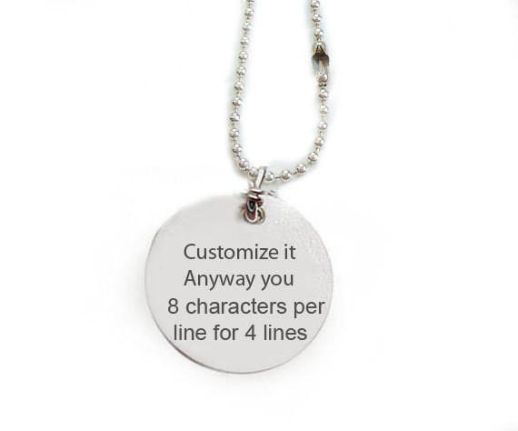 Hand Stamped Customize Necklace, Personalized it anyway you want pendant - Jewelrylized