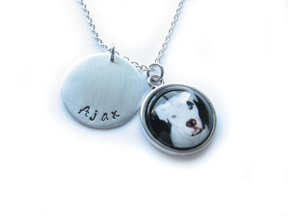 Pet Lovers Dog Cat Personalized Hand Stamped Necklace - Jewelrylized.com