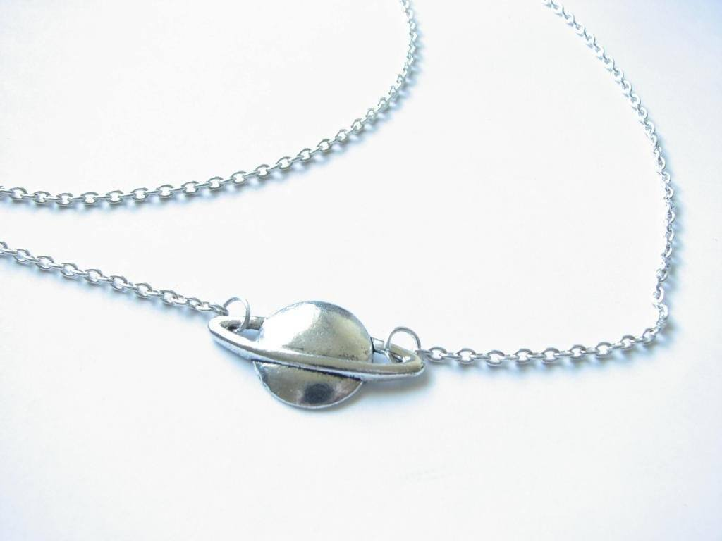 Planet Space Saturn Necklace - Jewelrylized.com