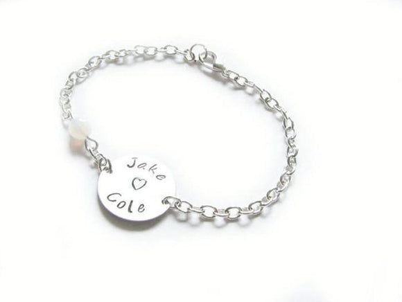 Name Bracelet, Personalized  Bracelet, Hand Stamped Jewelry - Jewelrylized.com