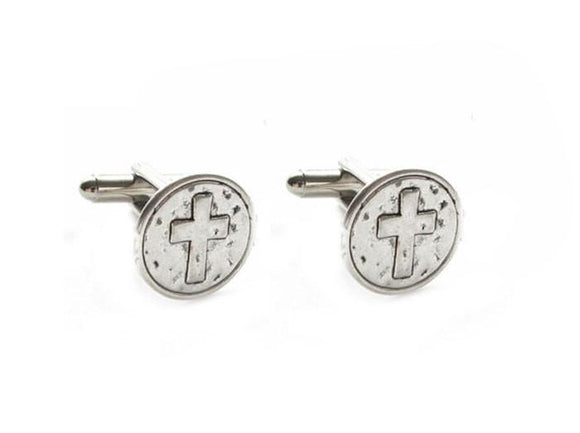 Cross Religious Christian Cufflinks - Jewelrylized.com
