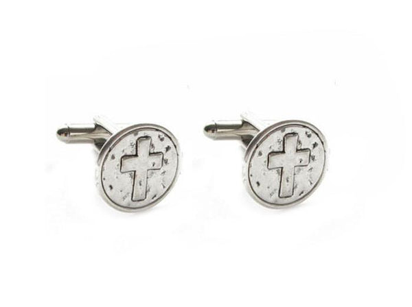 Hammer Cross Cufflinks, Religious Christian Catholic Gift - Jewelrylized