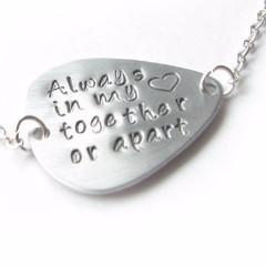 Sidway Guitar Pick Necklace, Hand Stamped Pendant, Music Gift - Jewelrylized.com