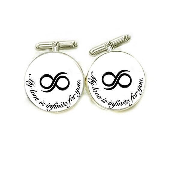 Infinity Photo Glass Cufflinks - Jewelrylized.com