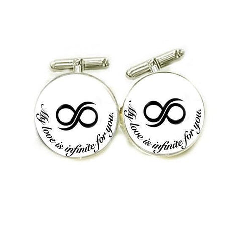Infinity Photo Glass Cufflinks - Jewelrylized  - 1