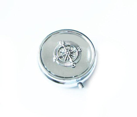 Compass Two Way Magnifying Mirror Compact - Jewelrylized  - 1