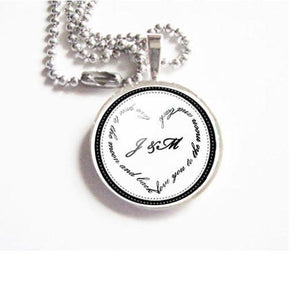 Initial Necklace, Personalized Photo Pendant Jewelry - Jewelrylized.com