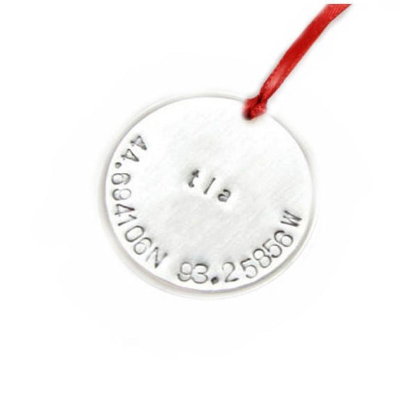 Christmas Longitude Latitude Ornament, New - Jewelrylized.com