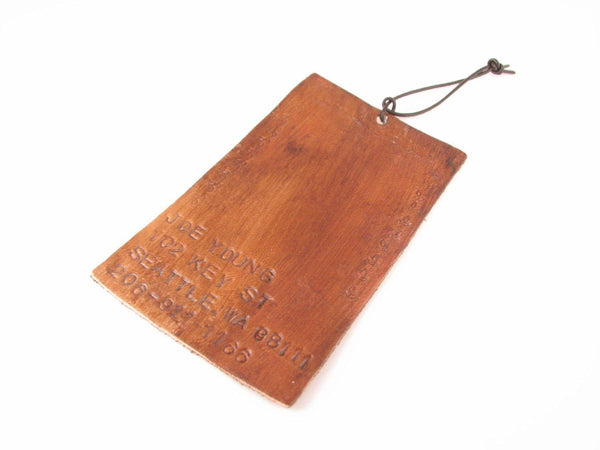 Leather Personalzie Luggage Tag, Travel Customize Roadtrips Tag - Jewelrylized