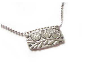 Silver Owl Necklace - Jewelrylized.com