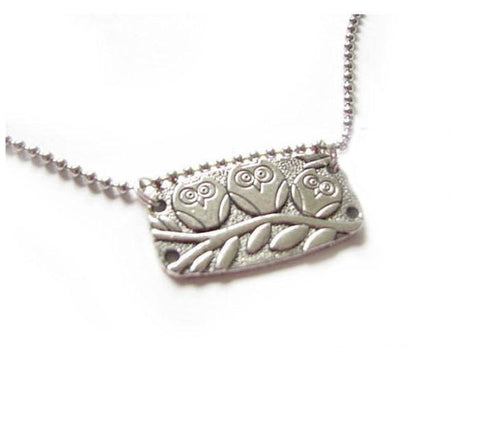 Silver Owl Necklace, Jewelrylized