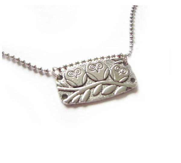 Silver Owl Necklace - Jewelrylized  - 1