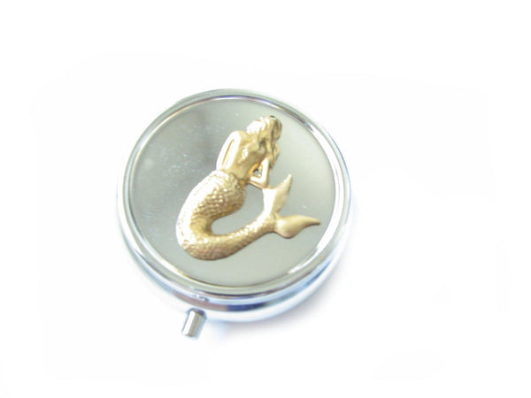 Mermaid Two Tone Compact Mirror - Jewelrylized