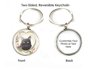 Black Cat Custom 2 Sided Keychain - Jewelrylized.com