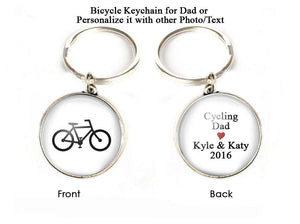 Cycling Bicycle Keychain for Dad - Jewelrylized.com