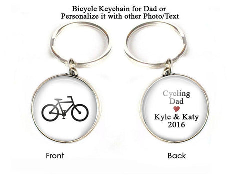 Cycling Bicycle Keychain for Dad, Jewelrylized