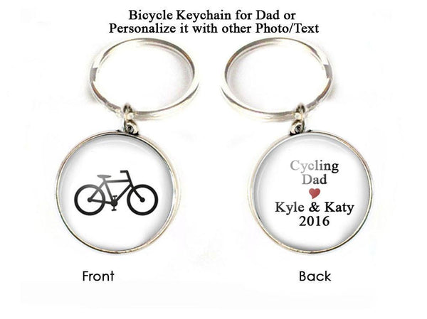 Cycling Bicycle Keychain for Dad - Jewelrylized