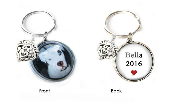Dog Keychain, Dog Picture Two-Sided keychain, Pet Photo Keychain, Dog Lovers Necklace - Jewelrylized