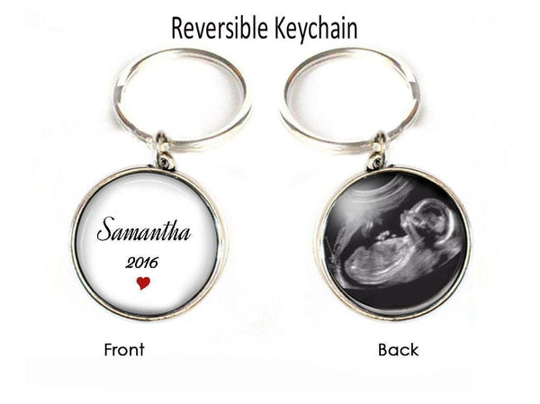 New Baby Sonogram Two Sided Bookmark, Gift Book Lover, TeacherKeychain, Pregnancy Gift, birth announcement, Gift for New Mother Father - Jewelrylized  - 1