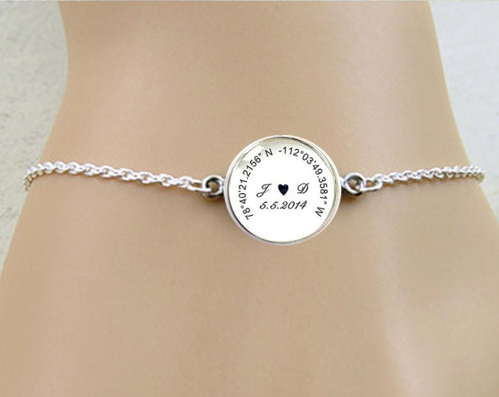 custom personalized location tatum cuff gps bradley longitude and co pin jewelry latitude coordinate bracelet gift