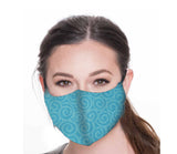 Green Swirl Face Mask, Cotton