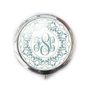 Ornate Green Personalized Monogram Mirror - Jewelrylized.com