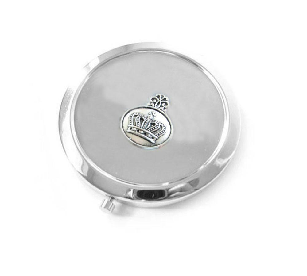 Crown 2 Way Magnifying Mirror Compact - Jewelrylized.com