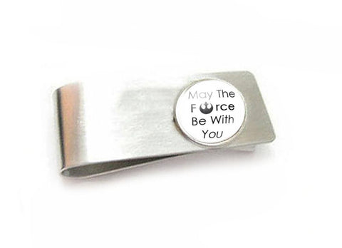 May the force be with you Money Clip, Handmade Money Holder - Jewelrylized.com